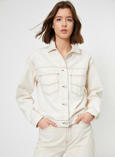 Koton Jean Ceket Beyaz